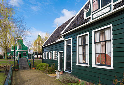 Authentic Dutch Houses Art Print by Hans Engbers