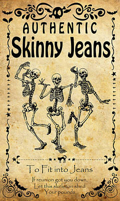Authentic Skinny Jeans Art Print
