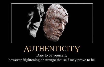 Digital Art - Authenticity by John Haldane
