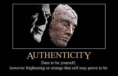 Digital Art - Authenticity by John Haldane