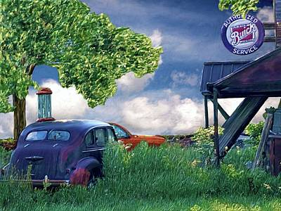 Digital Art - Authorized Buick Service by Ric Darrell