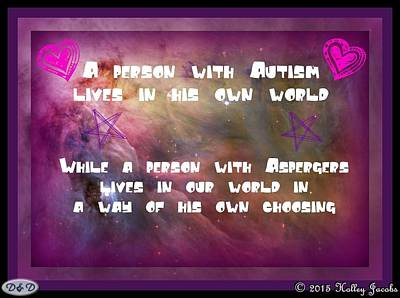 Digital Art - Autism In Our World by Holley Jacobs