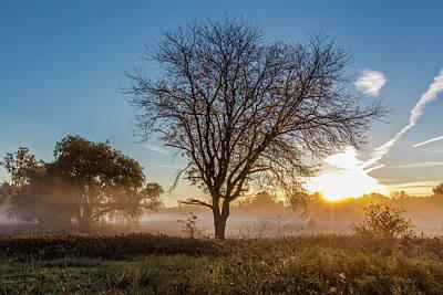 Photograph - Autmn Morning With Fog by John McGraw