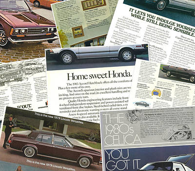 Photograph - Auto  Ad's Collage 1 by John Schneider