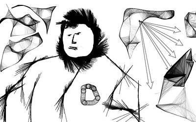 Digital Art - Diversion Digital Doodle 1 by Ed Meredith