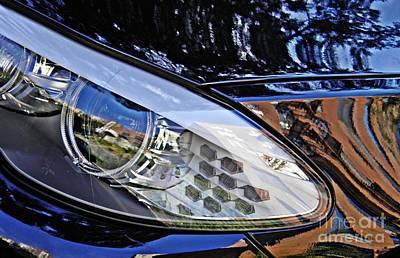 Photograph - Auto Headlight 180 by Sarah Loft