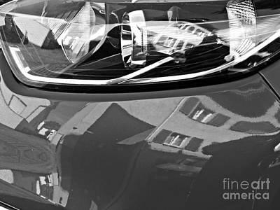 Photograph - Auto Headlight 186 Monochrome by Sarah Loft