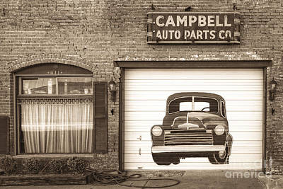 Photograph - Auto Parts Sign by Imagery by Charly
