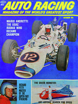 Photograph - Auto Racing Mag Oct 1966 by David Lee Thompson
