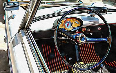 Photograph - Autobianchi Bianchina Through The Window by Dorothy Berry-Lound