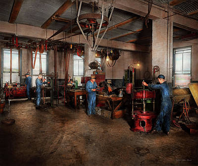 Photograph - Autobody - The Bodyshop 1916 by Mike Savad