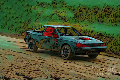Photograph - Autocross 19518 by Ray Shrewsberry