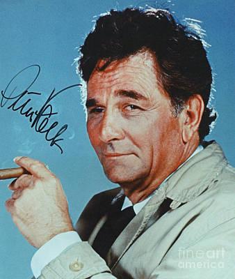 Autographed Color Photograph Of Peter Falk  Art Print by Pd