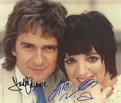 Autographed Dudley Moore And Liza Minnelli  Art Print by Pd
