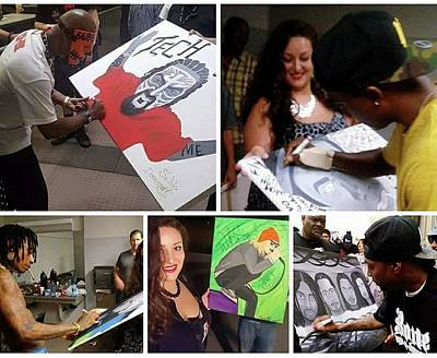 Wiz Khalifa Painting - Autographed Paintings by Sable Davenport