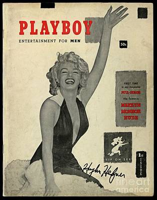 Autographed Playboy First Edition Art Print