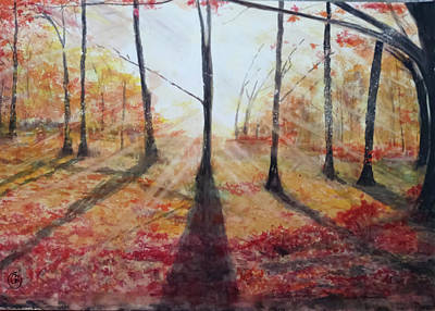 Painting - Automn Light by Annie Poitras