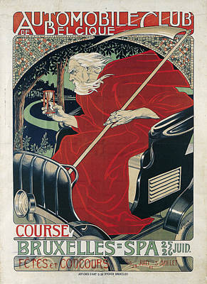 Gaudy Painting - Automobile Club Belgique by Celestial Images