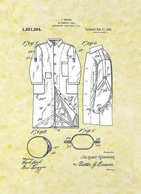 Drawing - Automobile Coat Patent by Movie Poster Prints
