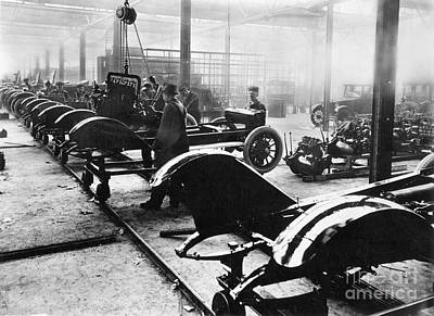 Automobile Manufacturing Art Print by Granger