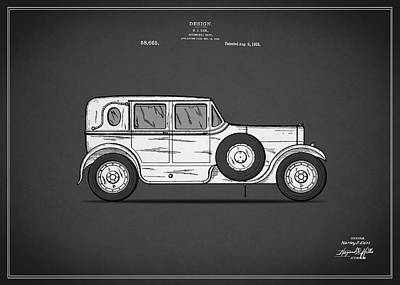 Retro Car Photograph - Automobile Patent 1921 by Mark Rogan