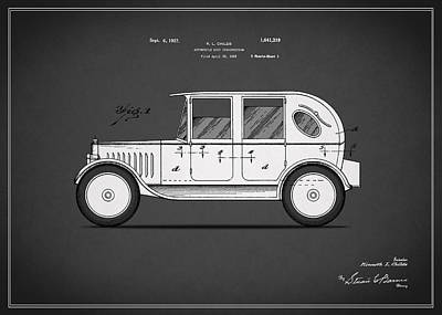 Retro Car Photograph - Automobile Patent 1927 by Mark Rogan