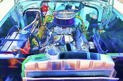 Automotive Engine Art Print by Lanjee Chee