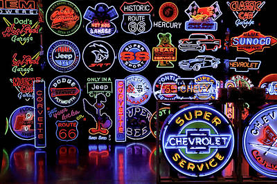Photograph - Automotive Neon by Christopher McKenzie