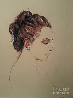 Drawing - Autoportrait Maja Sokolowska by Maja Sokolowska