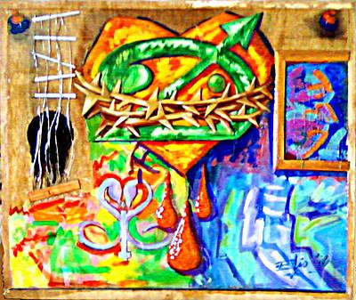 Autoretratos Guitarra Y Obra Original by Elio Lopez