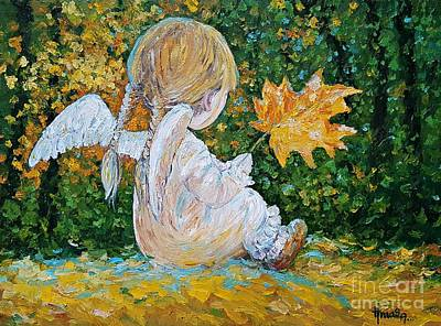 Painting - Autumn Angel by AmaS Art