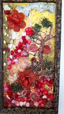 Polymer Clay Painting - Autumn by Laura Scott