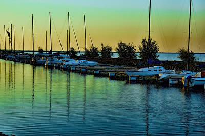 Photograph - Autum Sunrise In Captins Cove by Diana Mary Sharpton