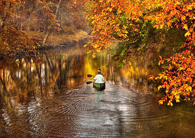 Autumn Scene Photograph - Autumn - Landscape - Exploring The Unknown  by Mike Savad
