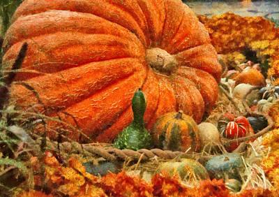 Autumn - Pumpkin - Great Gourds Art Print by Mike Savad