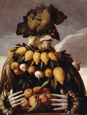 Real Experiences Painting - Autumn 5 by Giuseppe Arcimboldo