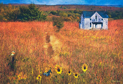 Photograph - Autumn Abandoned House In The Prairie by Anna Louise