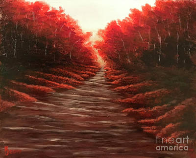 Painting - Autumn Ablaze by KJ Burk