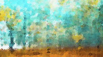 Maple Season Painting - Autumn Abstract  by Art Spectrum