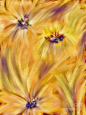 Abstract Airplane Art - Autumn Flowers-Abstract by Laurie