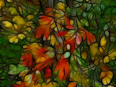 Photograph - Autumn Abstract by Kathleen Stephens