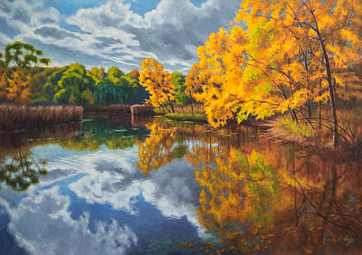 Reserve Painting - Autumn Afternoon 2 by Fiona Craig