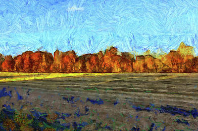 Digital Art - Autumn Afternoon by Bruce