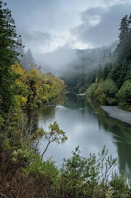 Photograph - Autumn Afternoon Mists On The Eel by Greg Nyquist