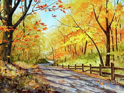Autumn Afternoon Original by Sarah Luginbill