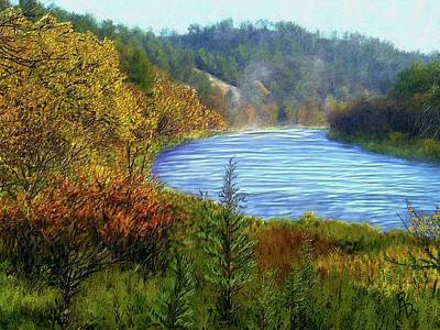 Digital Art - Autumn Along The Elkhorn by Ric Darrell