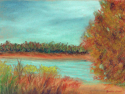 Painting - Autumn Along The River by Barry Jones