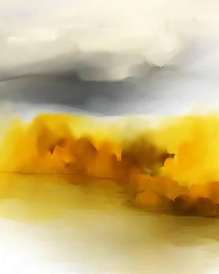 Digital Art - Autumn Along The River by David Lane
