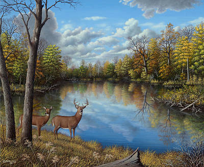 Wavra Wall Art - Painting - Autumn Along The Wildcat by Robert Wavra