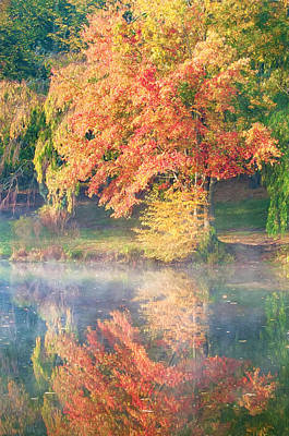 Photograph - Autumn And Reflection At The Lake by Gary Slawsky